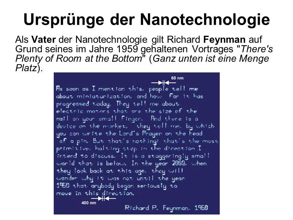 Ursprünge der Nanotechnologie
