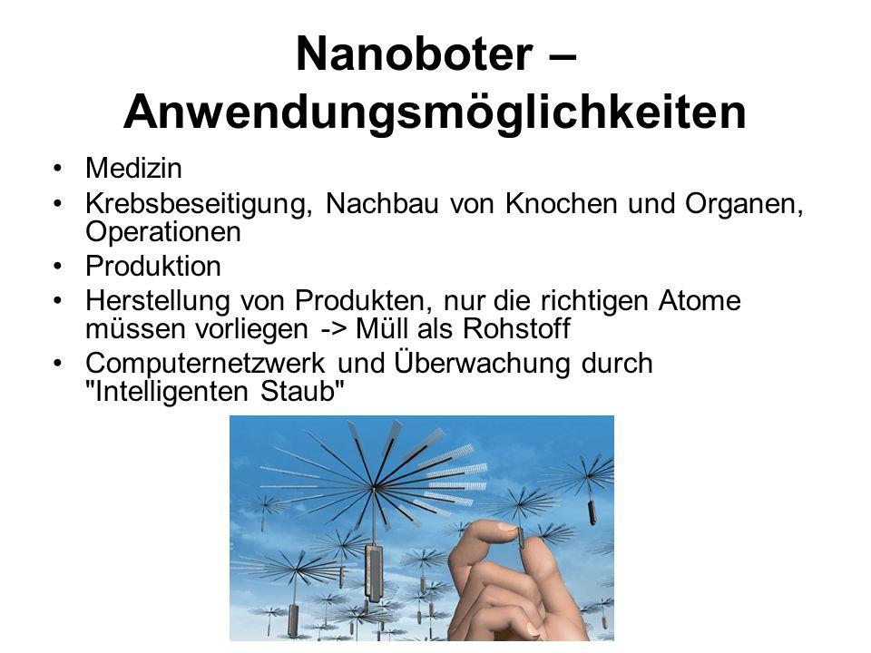 Nanoboter – Anwendungsmöglichkeiten