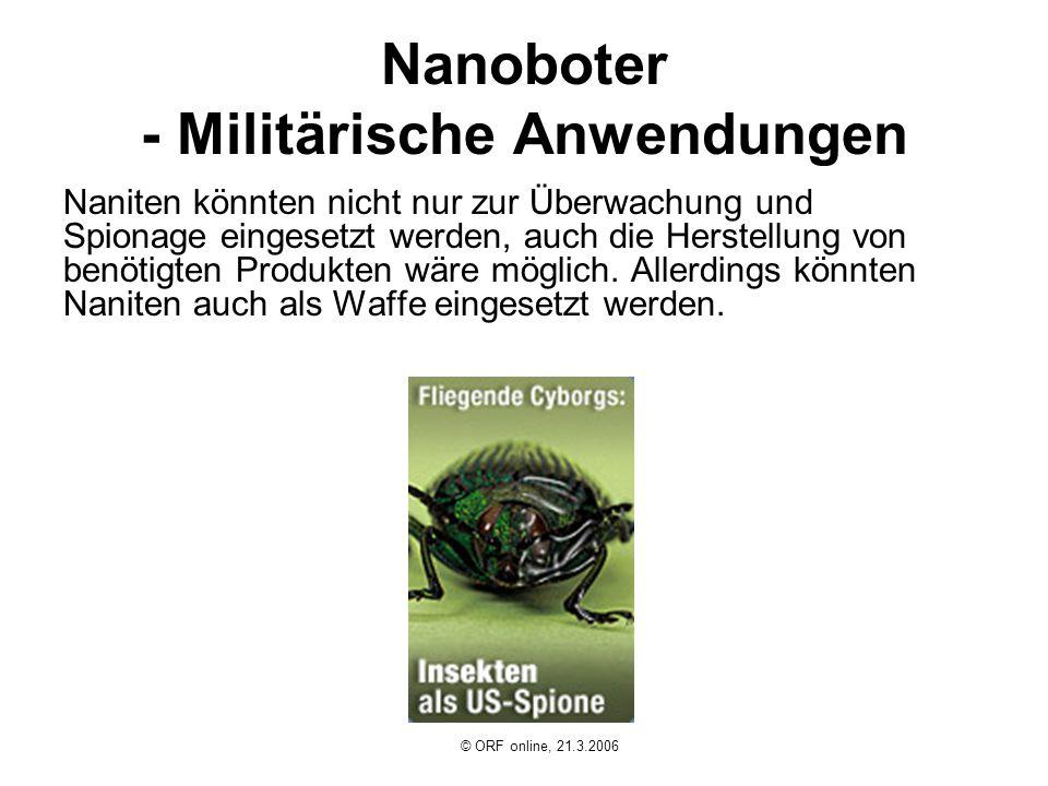 Nanoboter - Militärische Anwendungen