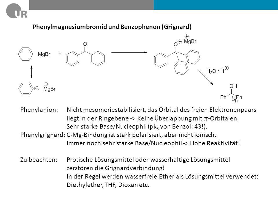 Phenylmagnesiumbromid und Benzophenon (Grignard)