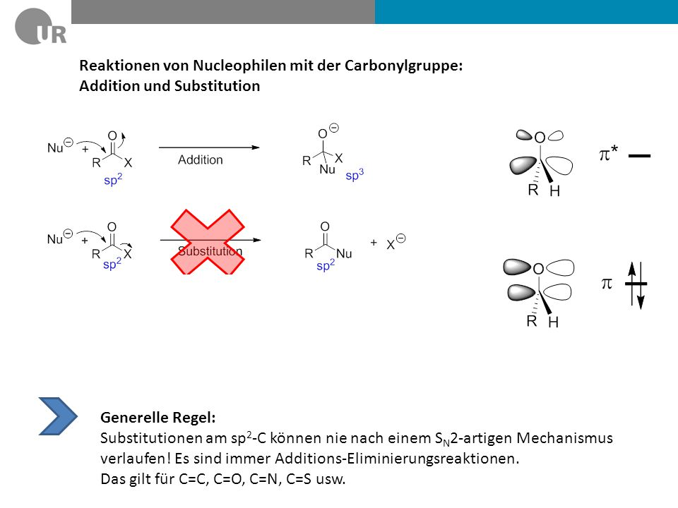 Reaktionen von Nucleophilen mit der Carbonylgruppe: