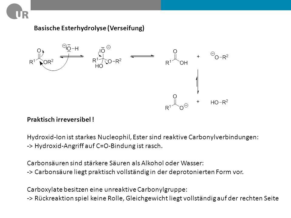Basische Esterhydrolyse (Verseifung)