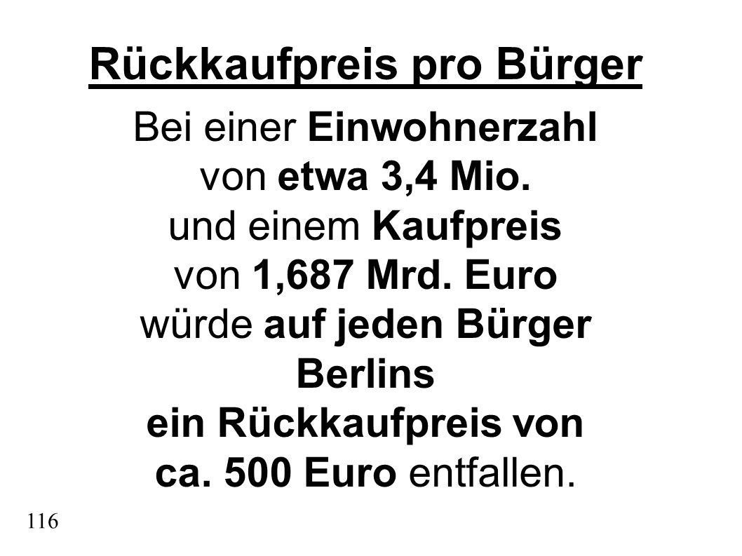 Rückkaufpreis pro Bürger