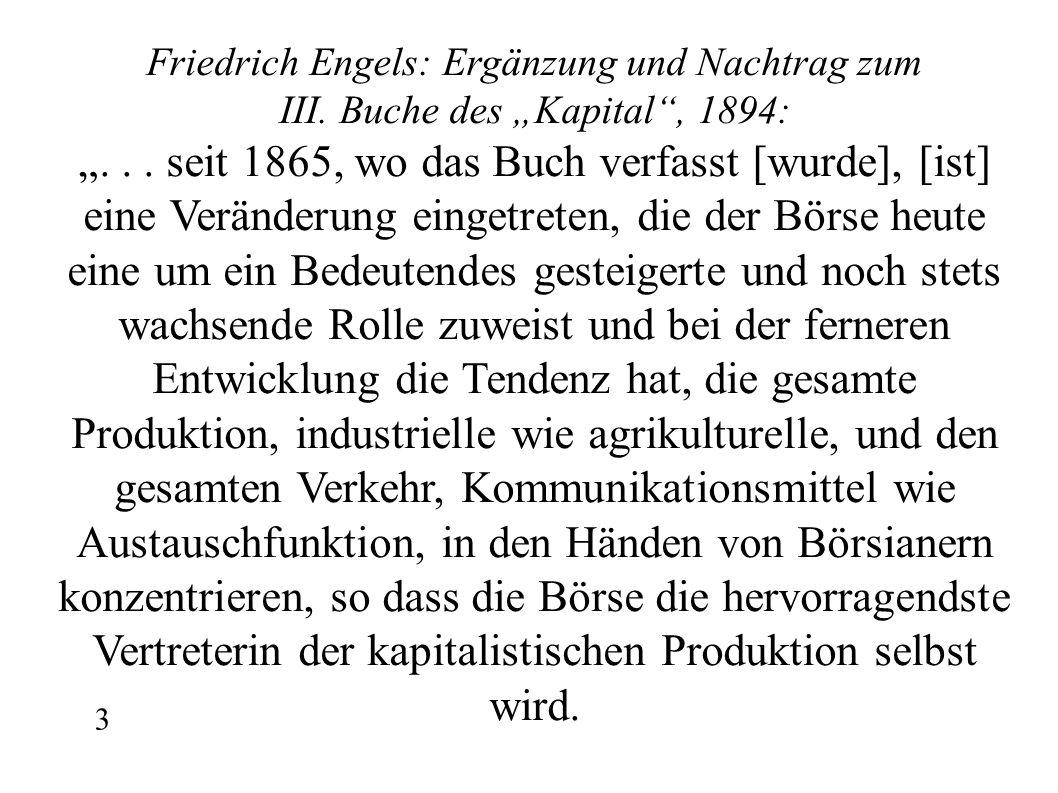 Friedrich Engels: Ergänzung und Nachtrag zum