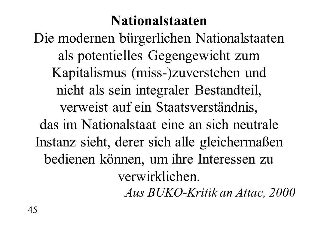 Die modernen bürgerlichen Nationalstaaten