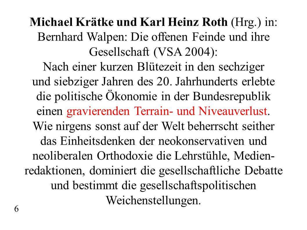 Michael Krätke und Karl Heinz Roth (Hrg.) in: