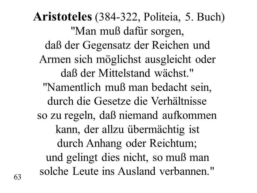 Aristoteles (384-322, Politeia, 5. Buch)