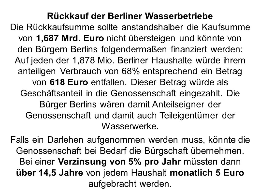 Rückkauf der Berliner Wasserbetriebe