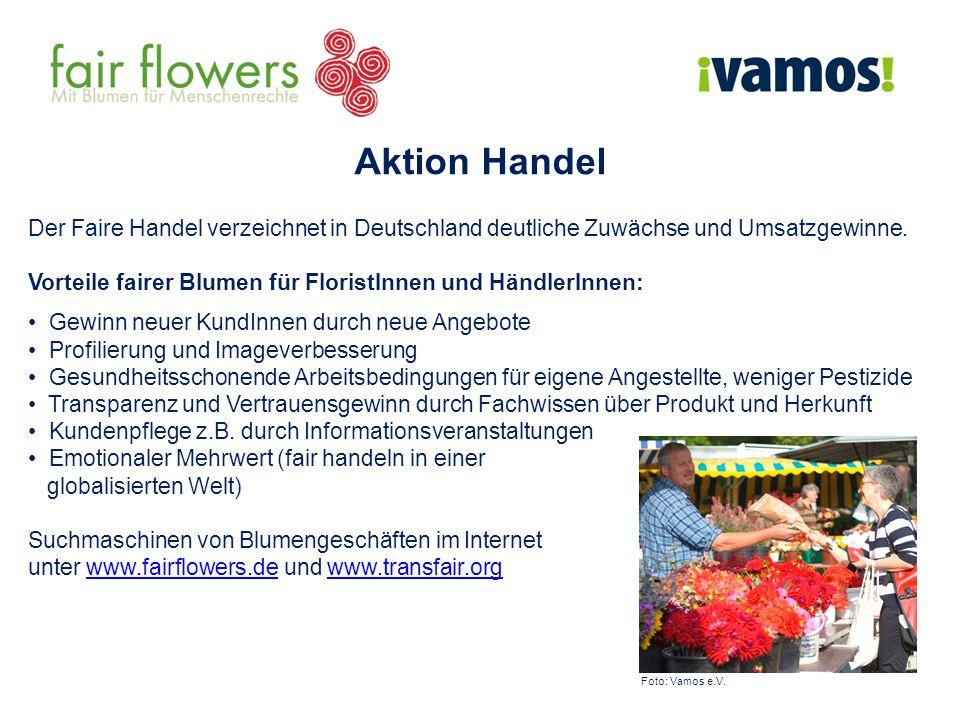 Aktion Handel Der Faire Handel verzeichnet in Deutschland deutliche Zuwächse und Umsatzgewinne.