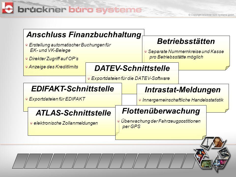 Anschluss Finanzbuchhaltung EDIFAKT-Schnittstelle