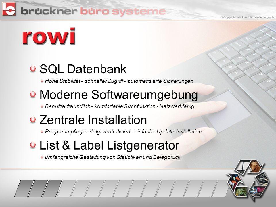 Moderne Softwareumgebung Zentrale Installation
