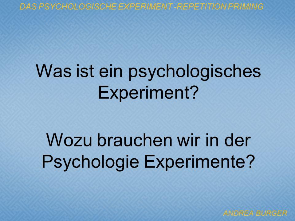Was ist ein psychologisches Experiment