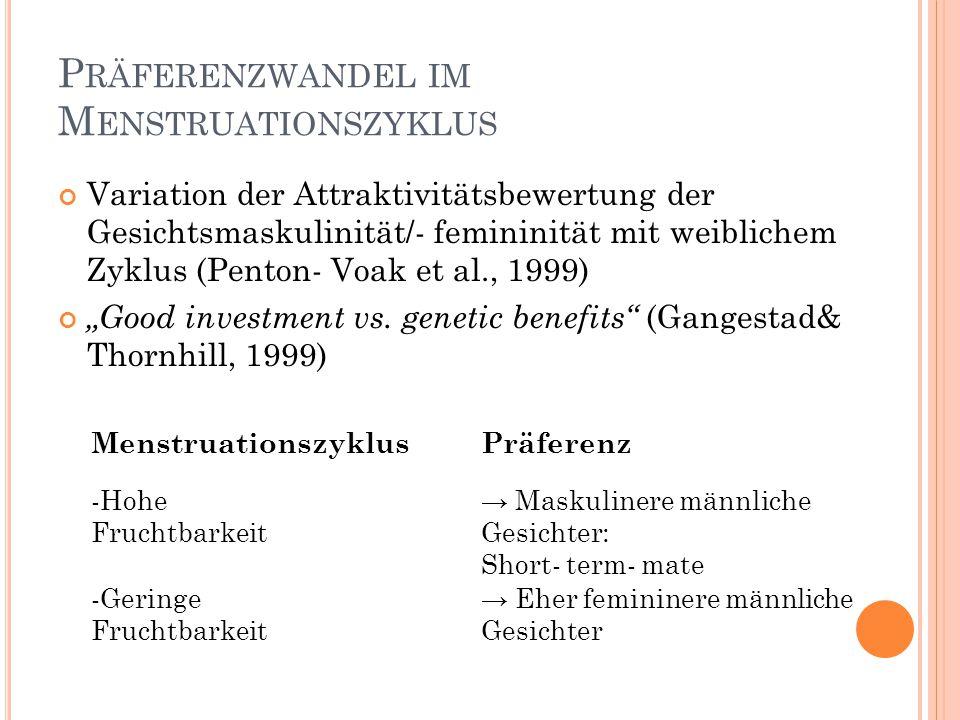Präferenzwandel im Menstruationszyklus