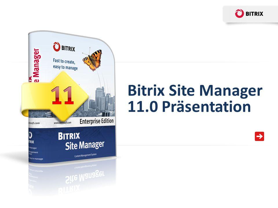 Bitrix Site Manager 11.0 Präsentation