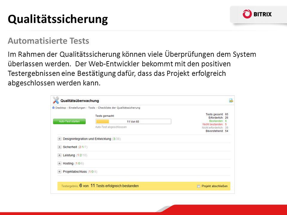 Qualitätssicherung Automatisierte Tests