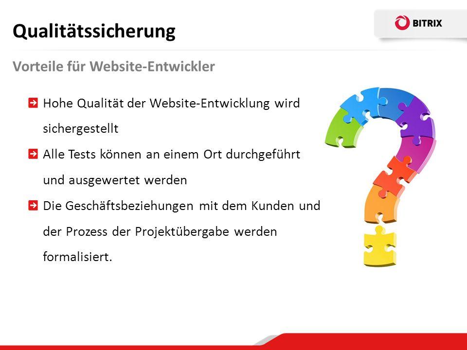 Qualitätssicherung Vorteile für Website-Entwickler
