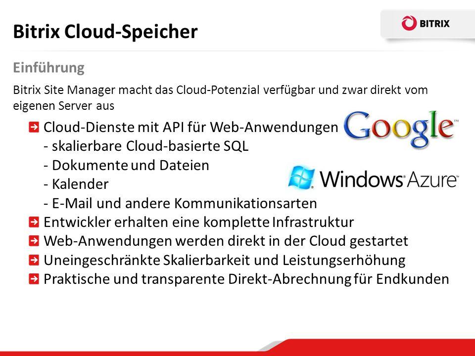 Bitrix Cloud-Speicher