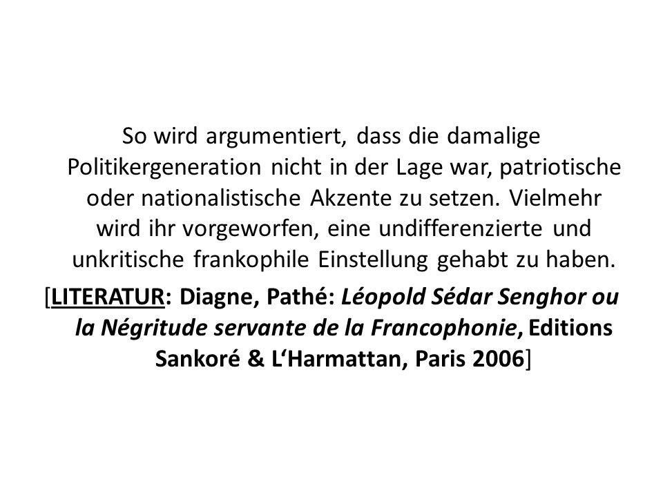 So wird argumentiert, dass die damalige Politikergeneration nicht in der Lage war, patriotische oder nationalistische Akzente zu setzen.