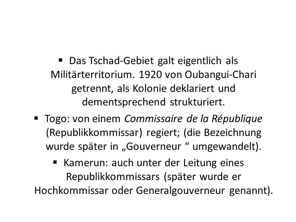 Das Tschad-Gebiet galt eigentlich als Militärterritorium