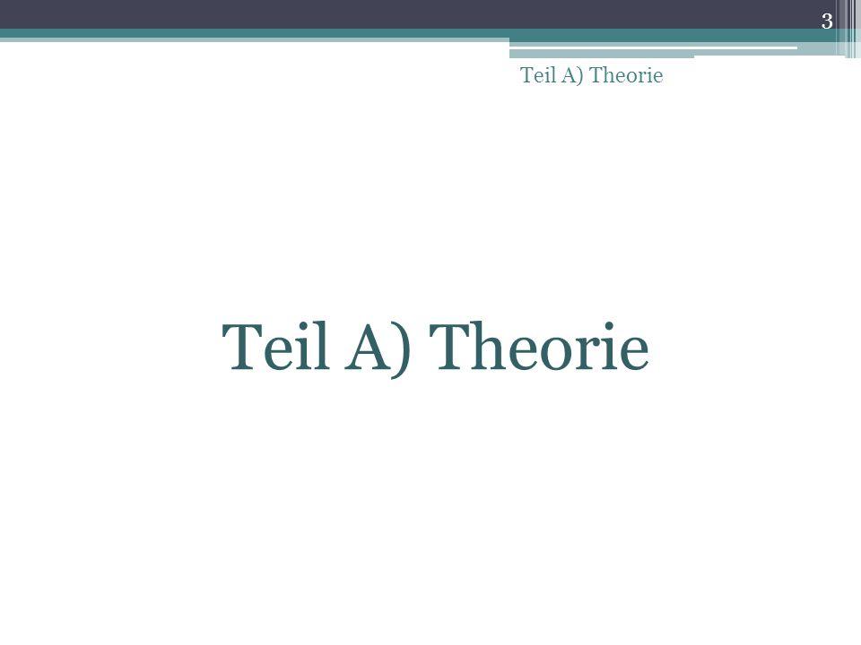 Teil A) Theorie Teil A) Theorie