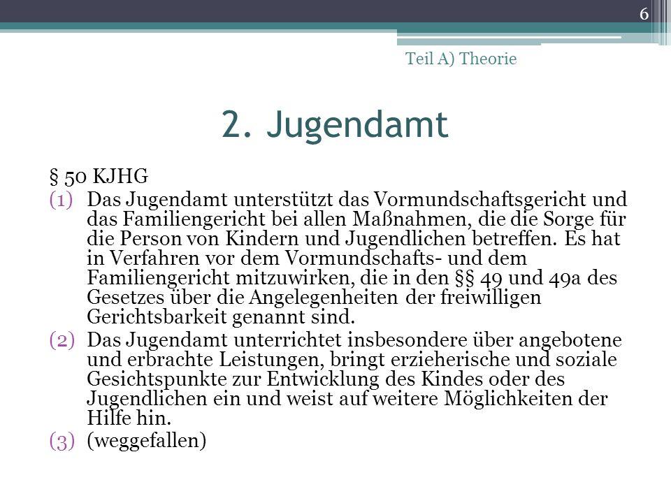Teil A) Theorie 2. Jugendamt. § 50 KJHG.