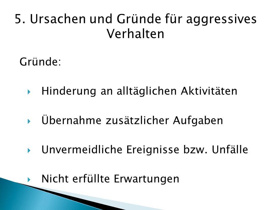 5. Ursachen und Gründe für aggressives Verhalten