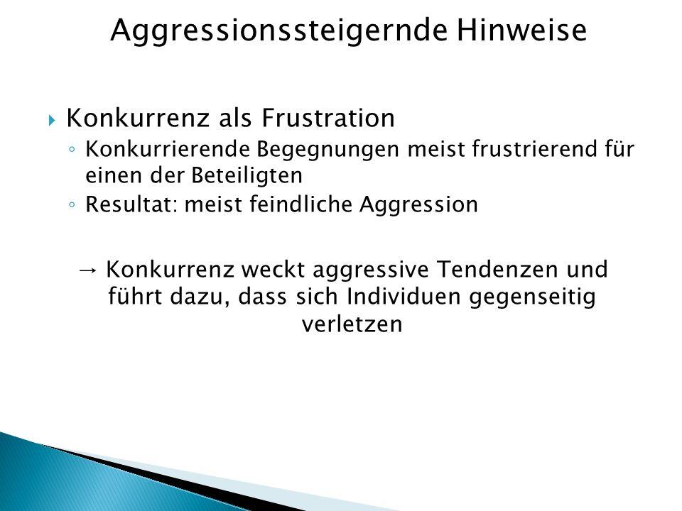 Aggressionssteigernde Hinweise