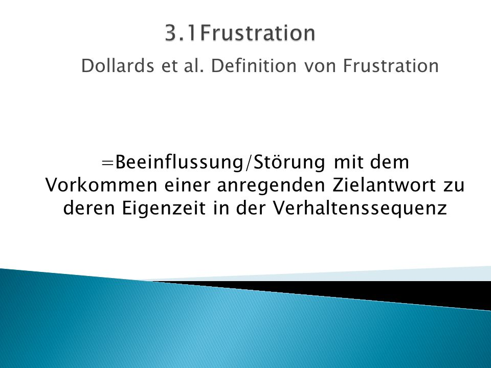 Dollards et al. Definition von Frustration