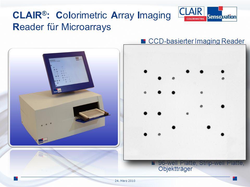 CLAIR®: Colorimetric Array Imaging Reader für Microarrays