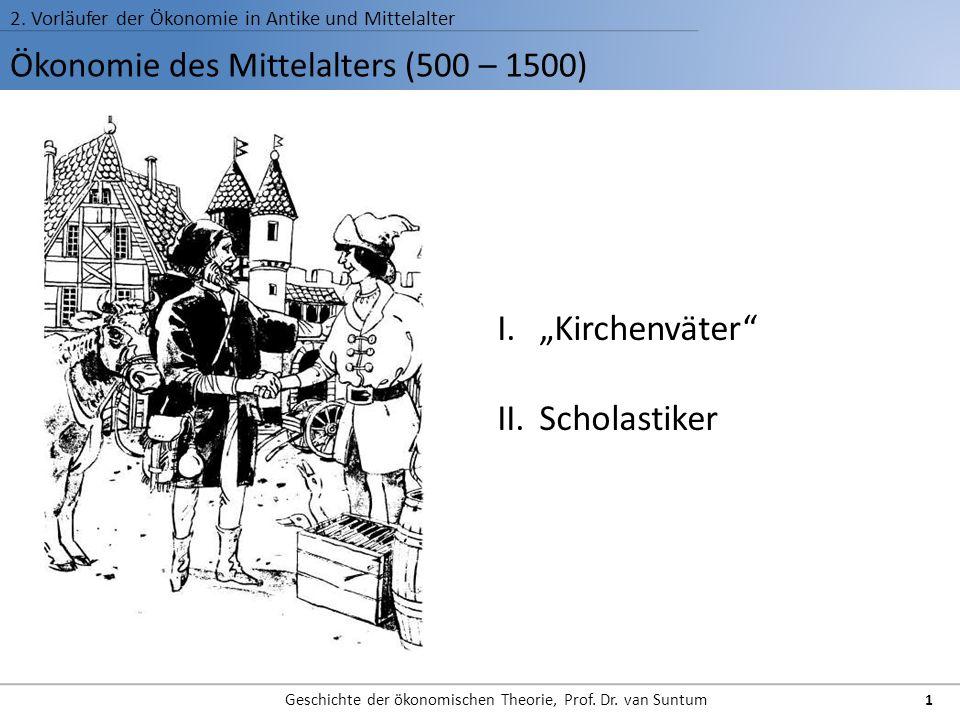 Ökonomie des Mittelalters (500 – 1500)