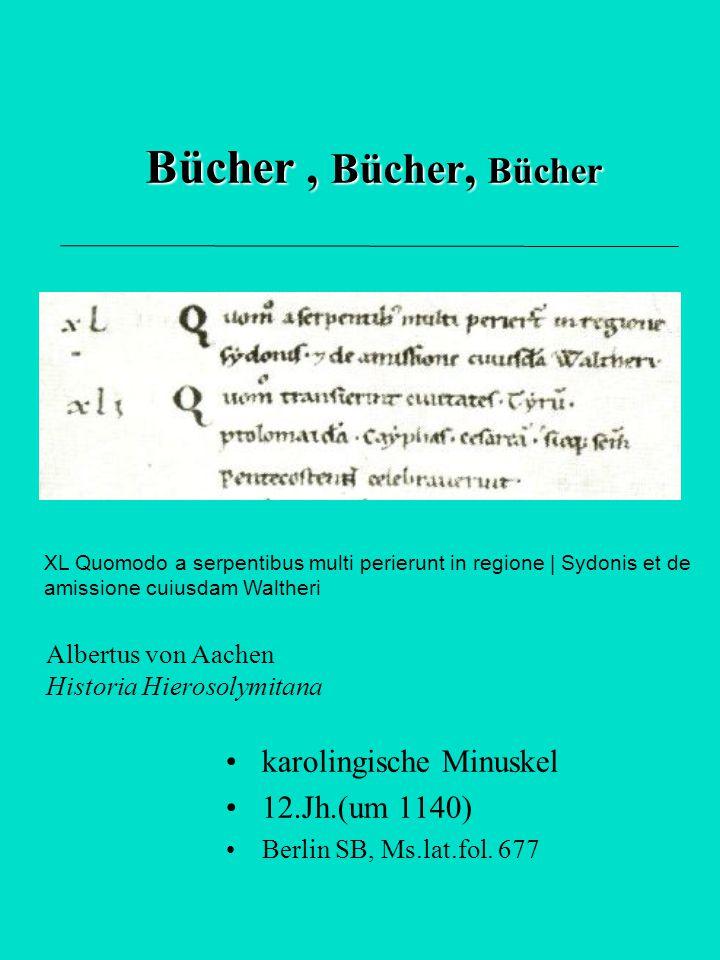 Bücher , Bücher, Bücher karolingische Minuskel 12.Jh.(um 1140)