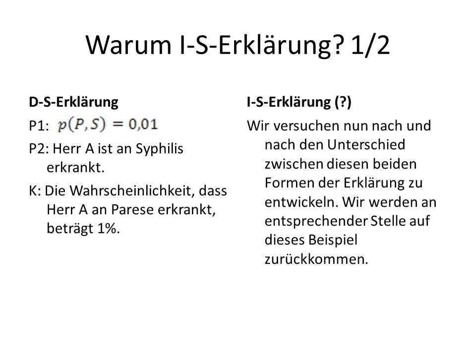 Warum I-S-Erklärung 1/2 D-S-Erklärung I-S-Erklärung ( )