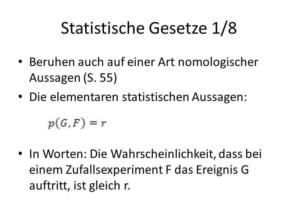 Statistische Gesetze 1/8