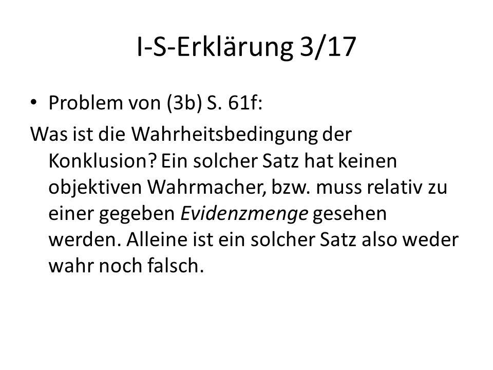 I-S-Erklärung 3/17 Problem von (3b) S. 61f:
