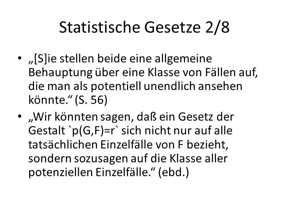 Statistische Gesetze 2/8