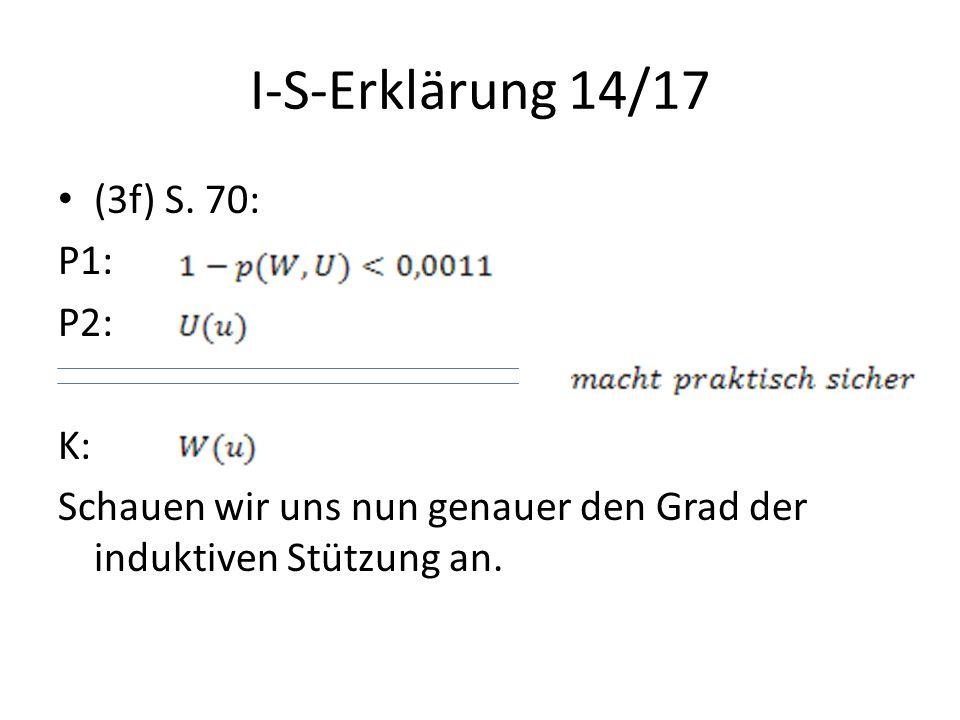 I-S-Erklärung 14/17 (3f) S. 70: P1: P2: K: