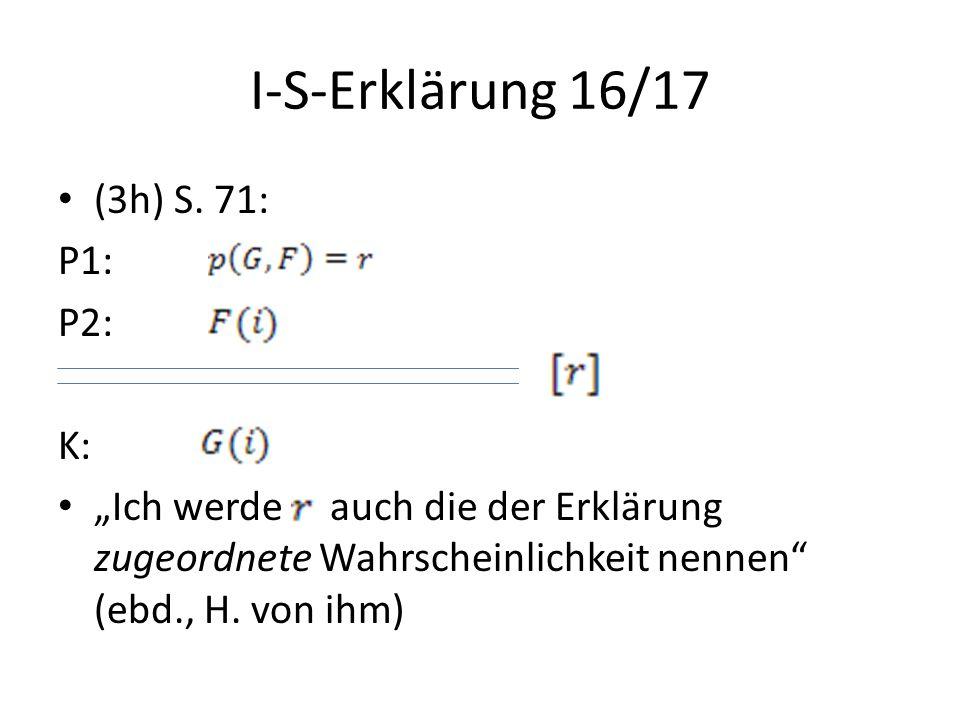 I-S-Erklärung 16/17 (3h) S. 71: P1: P2: K: