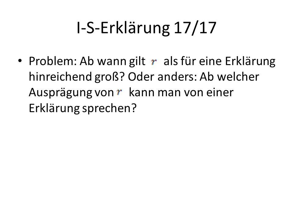 I-S-Erklärung 17/17
