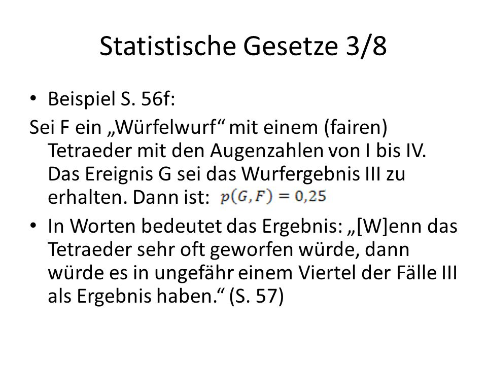 Statistische Gesetze 3/8