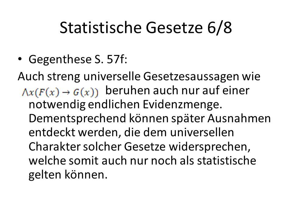 Statistische Gesetze 6/8