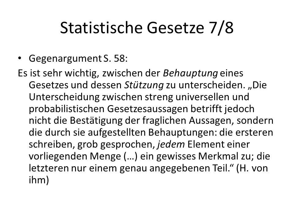 Statistische Gesetze 7/8