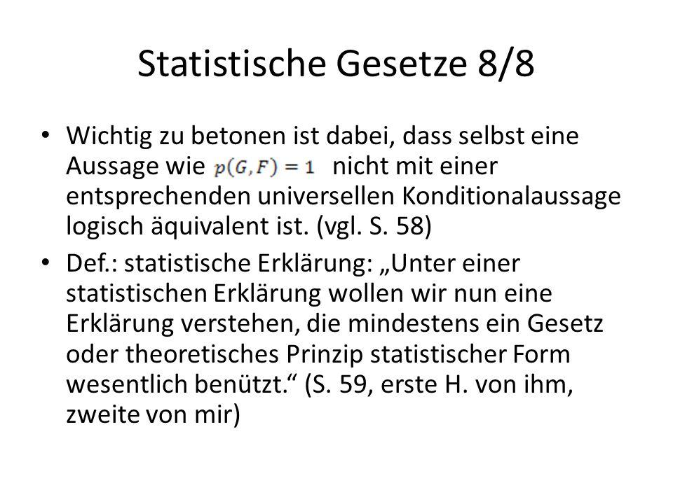 Statistische Gesetze 8/8