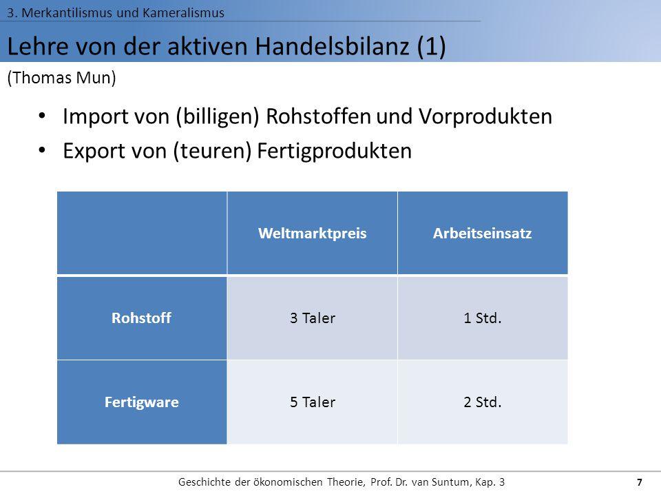 Lehre von der aktiven Handelsbilanz (1)
