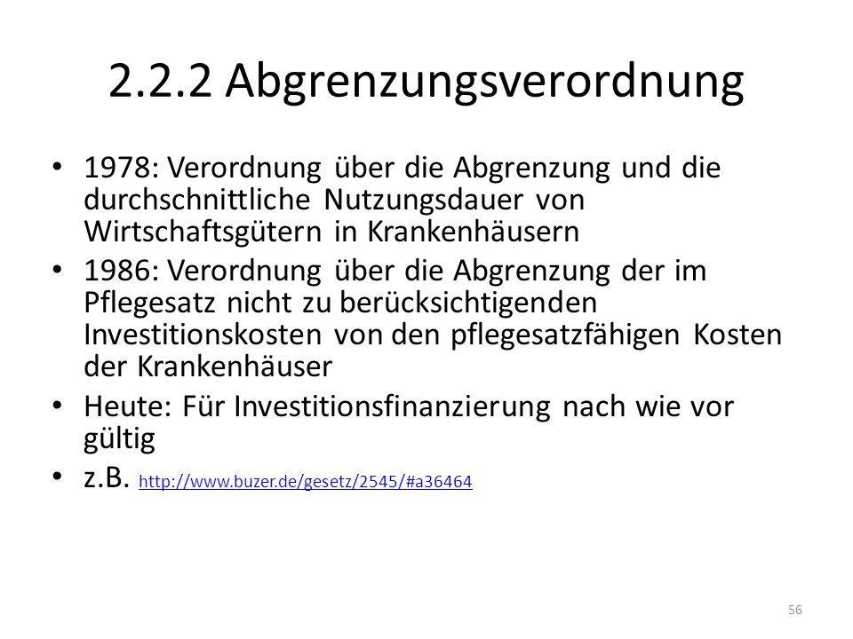 2.2.2 Abgrenzungsverordnung