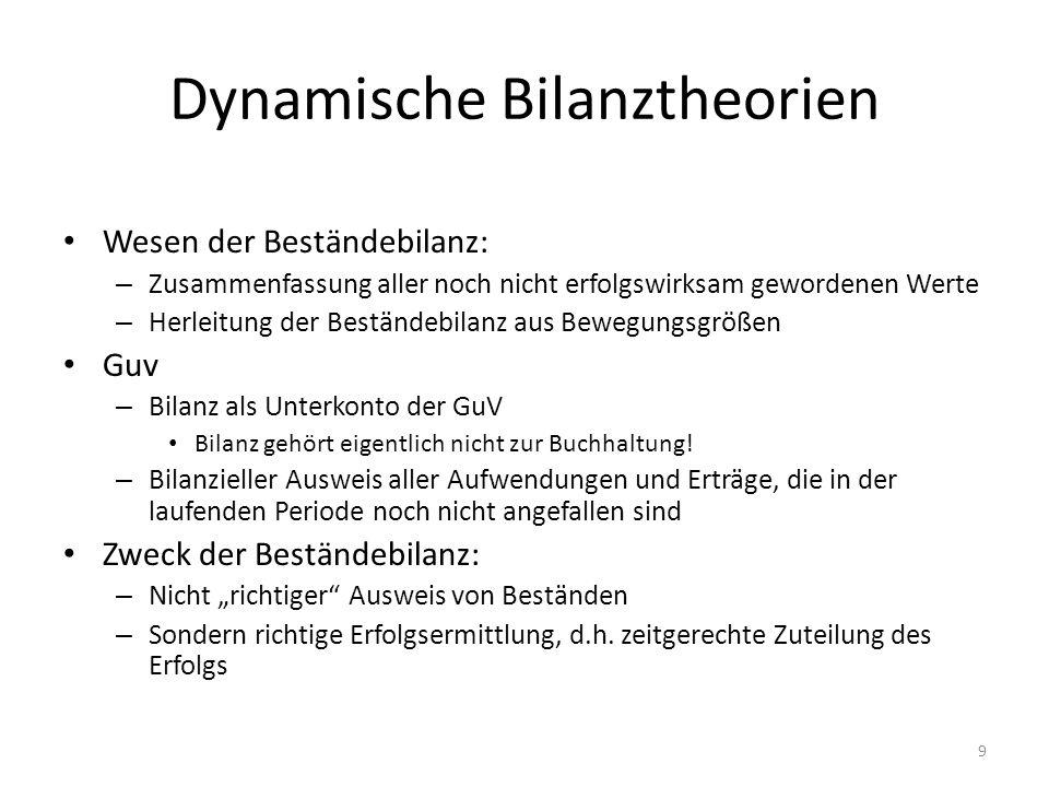Dynamische Bilanztheorien