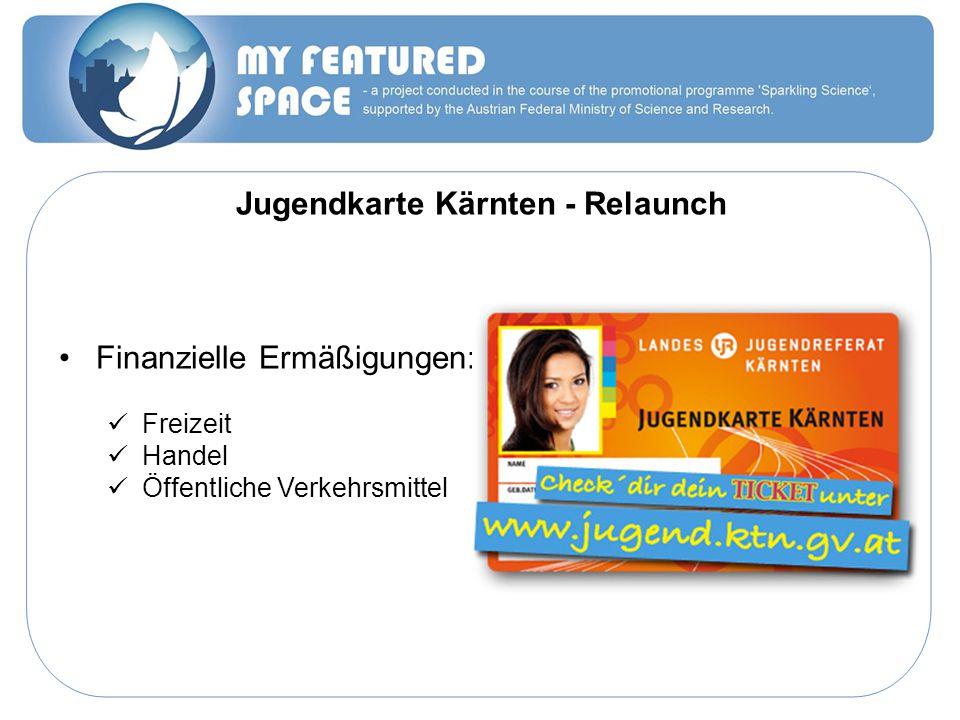 Jugendkarte Kärnten - Relaunch