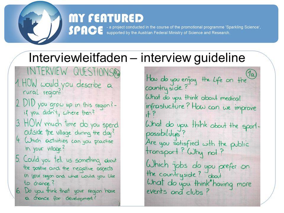 Interviewleitfaden – interview guideline