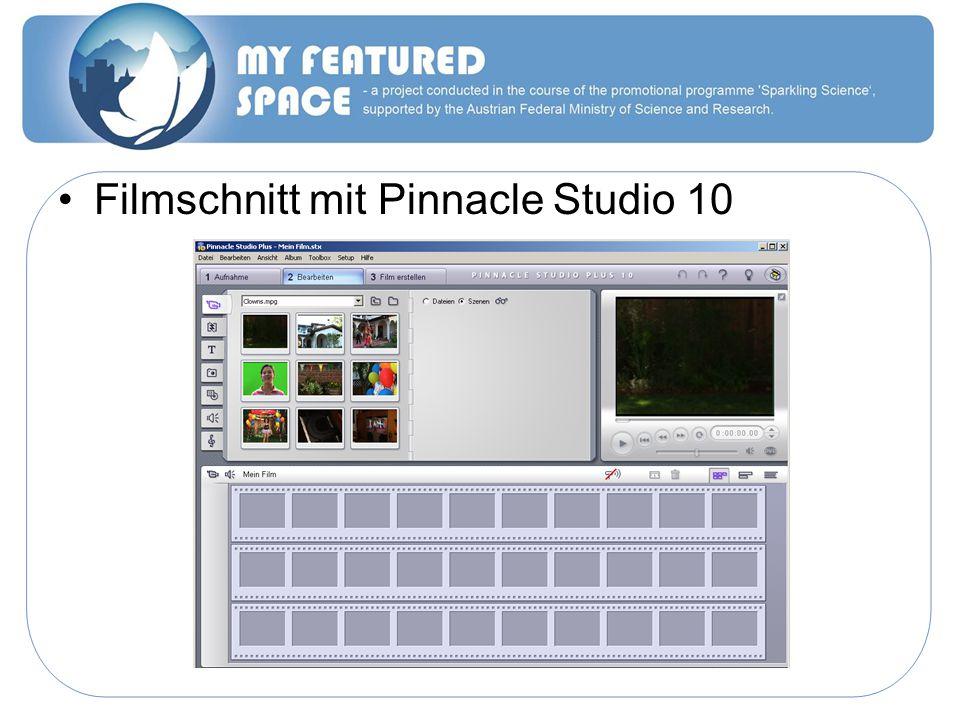 Filmschnitt mit Pinnacle Studio 10