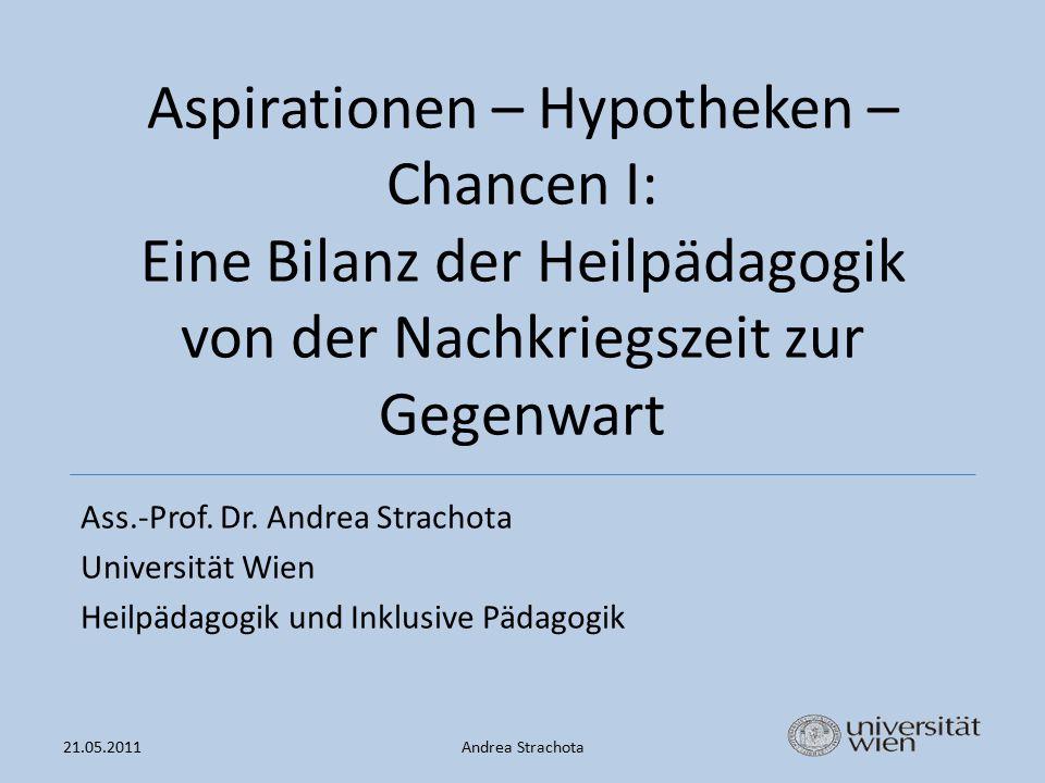 Aspirationen – Hypotheken – Chancen I: Eine Bilanz der Heilpädagogik von der Nachkriegszeit zur Gegenwart