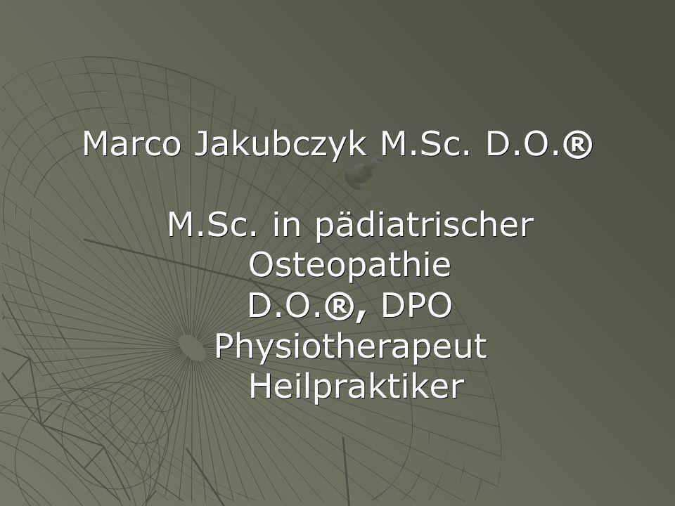 Marco Jakubczyk M.Sc. D.O.® M.Sc.